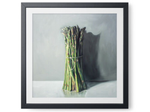 Canvas Print Poster Wall Art or Oil Painting Paper Asparagus Bunch