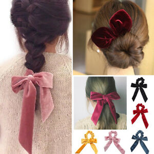 Cute-Women-Hair-Holders-Bow-Knot-Gifts-Scrunchy-Bunny-Ears-Stretch-Ropes-Tie