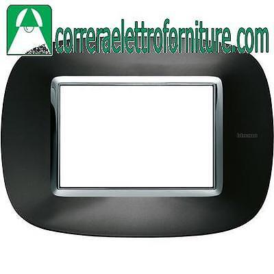 BTICINO AXOLUTE placca 3 moduli posti antracite HB4803XS