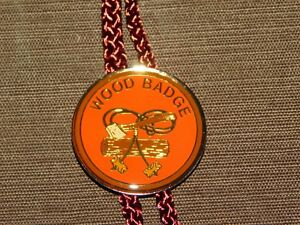 VINTAGE-BSA-BOY-SCOUTS-OF-AMERICA-WOOD-BADGE-AXE-E-BOLO-TIE-NEW