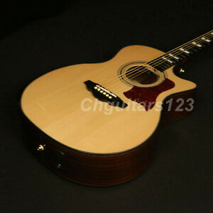 Handmade-Limited-Edition-Electric-Acoustic-Guitar-Solid-Sitka-Spruce-Top