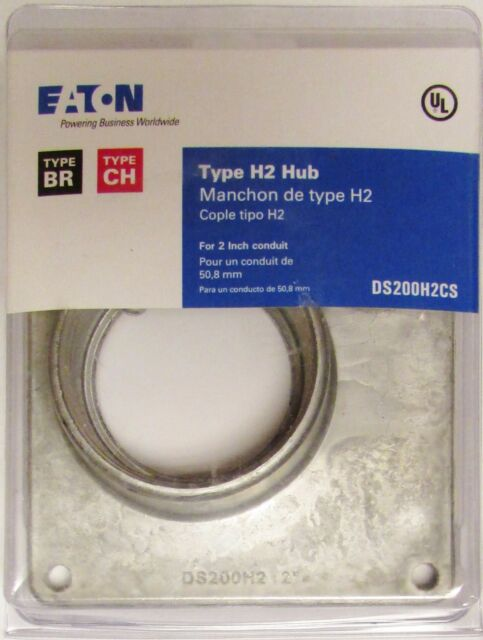 "BOX OF 5 EATON CUTLER HAMMER DS200H2 Type CH 2/"" Conduit Hub Type H2 BR DS200H2CS"