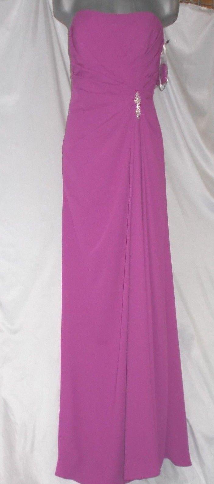 David's Bridal Size 10 Purple Plum Long Dress Evening Party Prom New