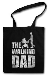 THE WALKING DAD STOFFTASCHE Vatertag Bester Vater Present Geschenk Dead Fun