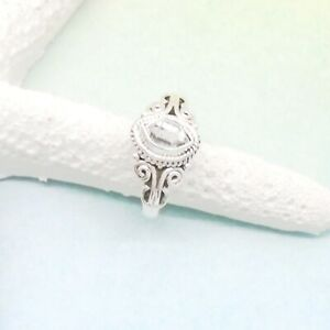 Herkimer-Diamant-grau-Nostalgie-Design-Ring-18-75-mm-925-Sterling-Silber-neu