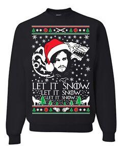 Let-IT-Snow-Jon-Snow-Ugly-Christmas-Sweater-2018-Unisex-Sweatshirt