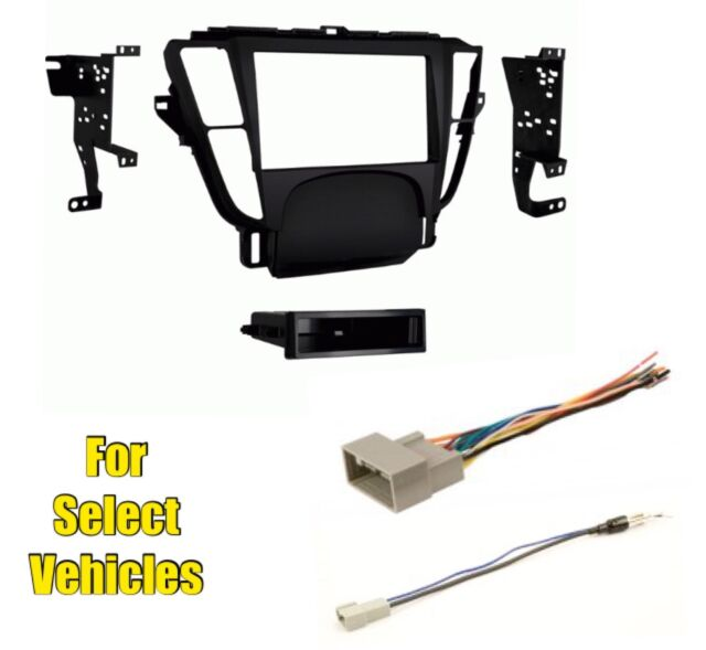 Car Stereo Radio Install Mount Trim Stereo Face Kit Combo