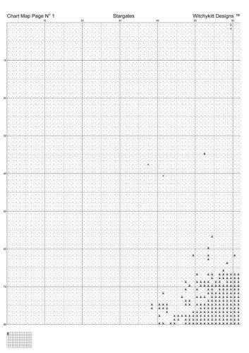 puert STARGATES cross stitch pattern PDF punto cruz kreuzstich point de croix