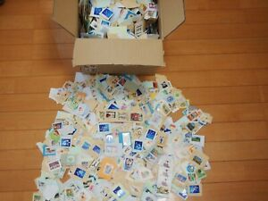 Commemorative-Only-JAPAN-Used-Stamps-on-Paper-5000pcs-900g-Briefmarken-Kiloware