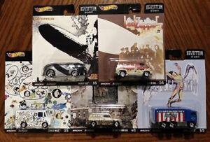 Led-Zeppelin-Complete-Set-of-5-Hot-Wheels-Premium-Pop-Culture-2020