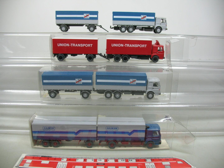 AI692-1x AI692-1x AI692-1x Wiking H0 Lastzug MAN  473 Albis+fern schnell gut+Union-Transport 12520c