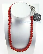 """YSL YVES SAINT LAURENT HANDMADE BEAD NECKLACE 22"""" MADE IN FRANCE NEW"""