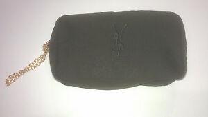 Yves-Saint-Laurent-Cosmetic-Bag-pouch-Makeup-Bag-designer-case-New-Black-M