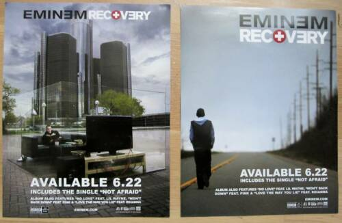 Eminem RECOVERY 2-Sided Mini Promo Poster NM