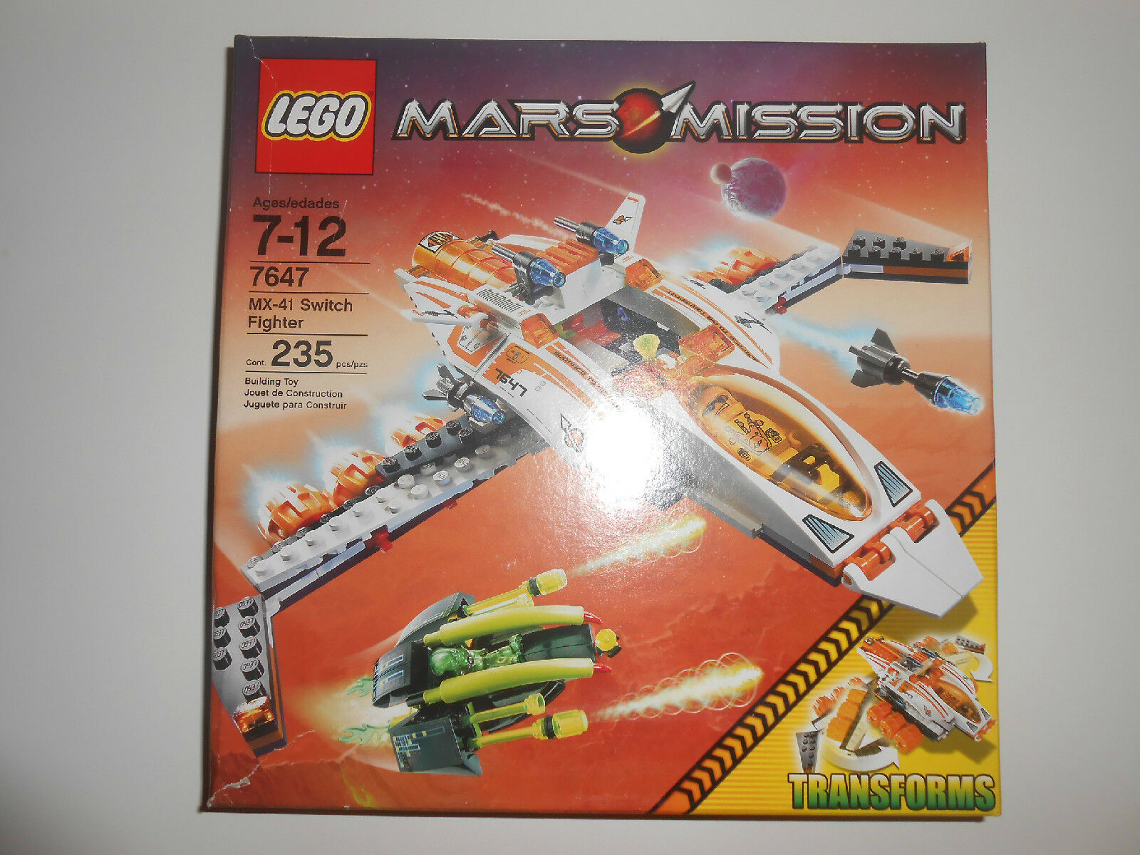 Lego Mars Mission MX-41 Switch Fighter 7647 New in Sealed Box