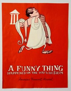 Program A Funny Thing Forum 1965 Dick Shawn Kenley Players Columbus Ohio