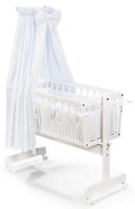 KOKO-Pendelwiege-034-PIA-034-Komplett-Babybwiege-Wiege-weiss-NEU