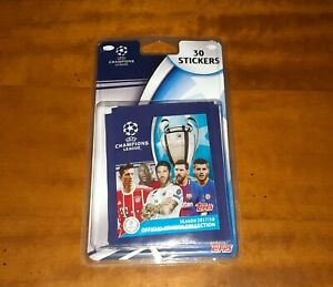 30-Stickers-Pack-Lot-2017-2018-Topps-Champions-League-Mbappe-Rookie-No-Panini