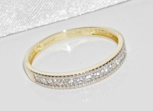 9ct Gold 0.15ct Ladies Eternity Ring UK Hallmarked size Q