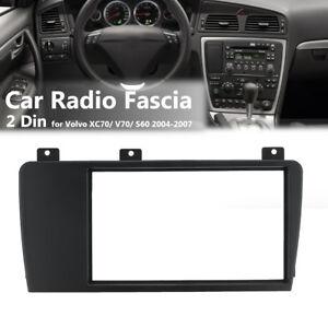 2-Din-Car-Stereo-Radio-Fascia-Panel-Surround-Plate-Frame-For-Volvo-XC70-V70-S60