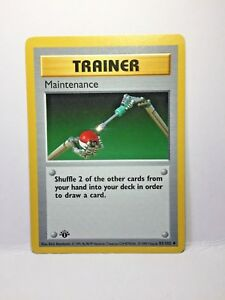 Pokemon Maintenance Trainer Card 83//102 NM//MINT Base Set Rare