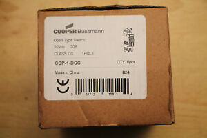 Cooper-Bussmann-CCP-1-DCC-1-Pole-Open-Type-Switch-80Vdc-30A-Box-of-6-New