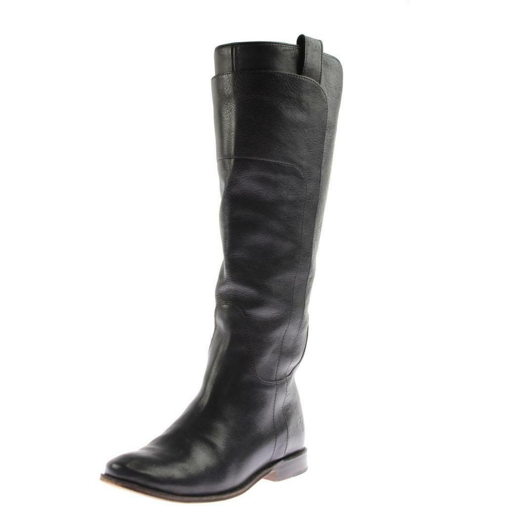 FRYE  398 femmes PAIGE noir LEATHER Riding bottes chaussures HEELS 5.5 DESIGNER NIB