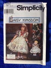 Simplicity 7282 Daisy Kingdom Size BB 5,6,7,8 Child's Dress & Doll Clothes Uncut