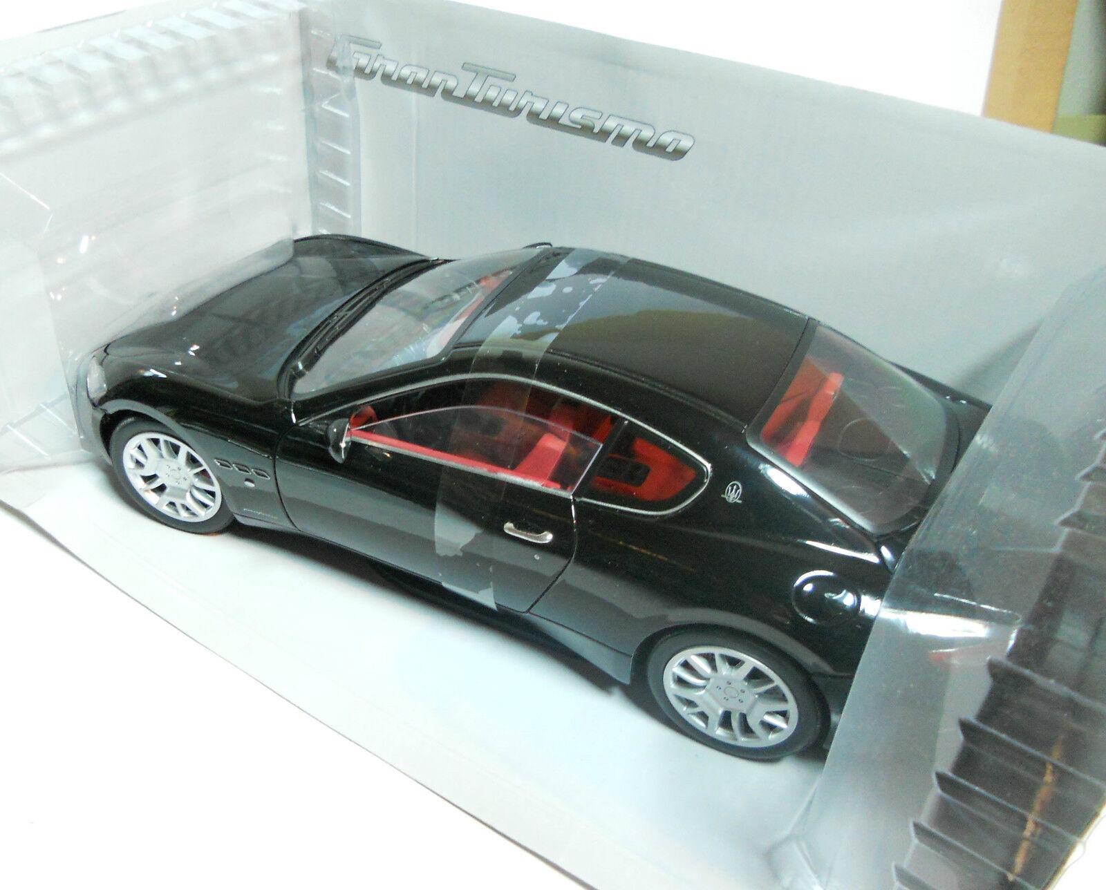 Maserati gran turismo, noir, modellauto, Fertigmodell, mondo motors 1 18