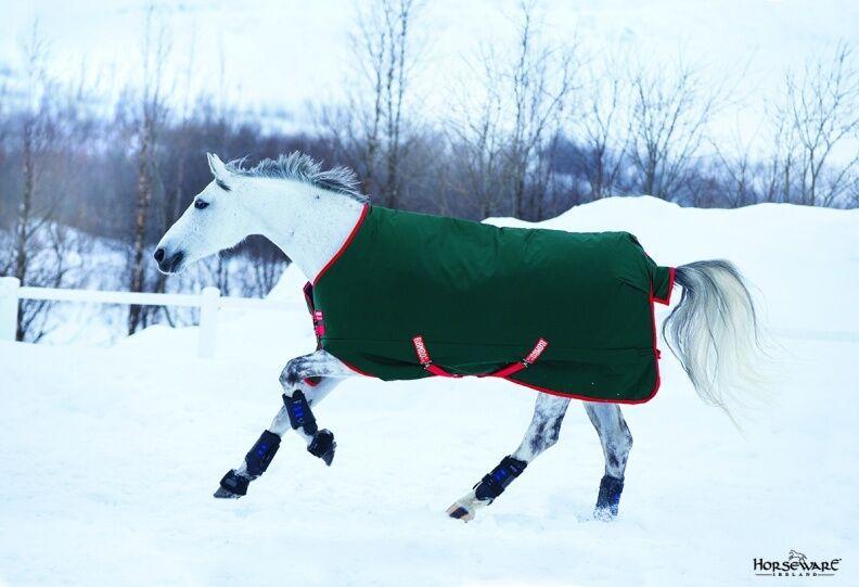 Horseware Rambo THE ORIGINAL Turnout Rug Lightweight Lightweight Rug Lite 0g Grün/ROT 5'6