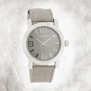Oozoo-Quartz-Watch-Youth-Silver-Jr-Edition-38mm-Leather-Wrist-Band-Grey-UOJR202