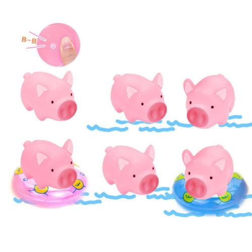 2pcs Cute Pink Pig Piglet  Piggy Squishy Tactile Squeeze Kid Soundable Toy