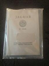 Jaguar E Type XKE Series I 3.8L 1961-64 Owners Manual Service Handbook NEW