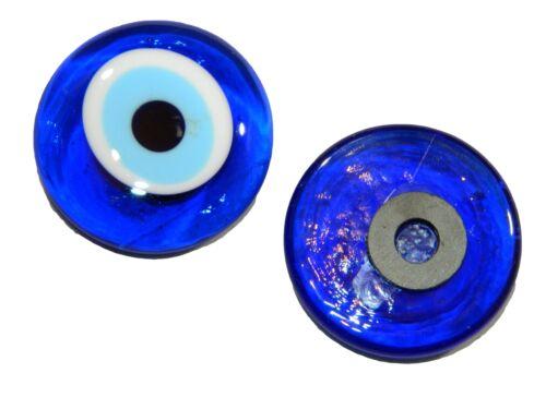 Greek Glass Fridge Magnet 4cm Lucky Evil Eye Nazar Boncuk Turkish