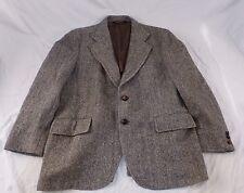 Harris Tweed Blazer Sports Coat Jacket Herringbone 100% Virgin Scottish Wool