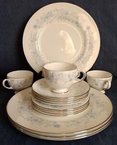 Wedgwood-Bone-China-Belle-Fleur-DINNER-PLATES-B-amp-B-PLATES-CUPS-amp-SAUCERS