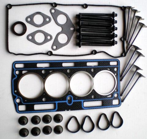 Para Renault Clio 1.2 8V 01 en D7F cabeza junta conjunto Pernos 4 válvulas de escape de entrada 4