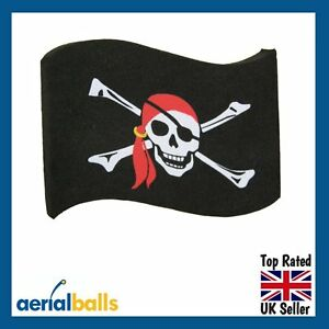 REDUCED-Jolly-Roger-Pirate-Flag-Car-Aerial-Ball-Antenna-Topper