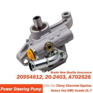 New Power Steering Pump Chevy Chevrolet Equinox Saturn Vue Gmc Acadia Xl 7 Buick Ebay