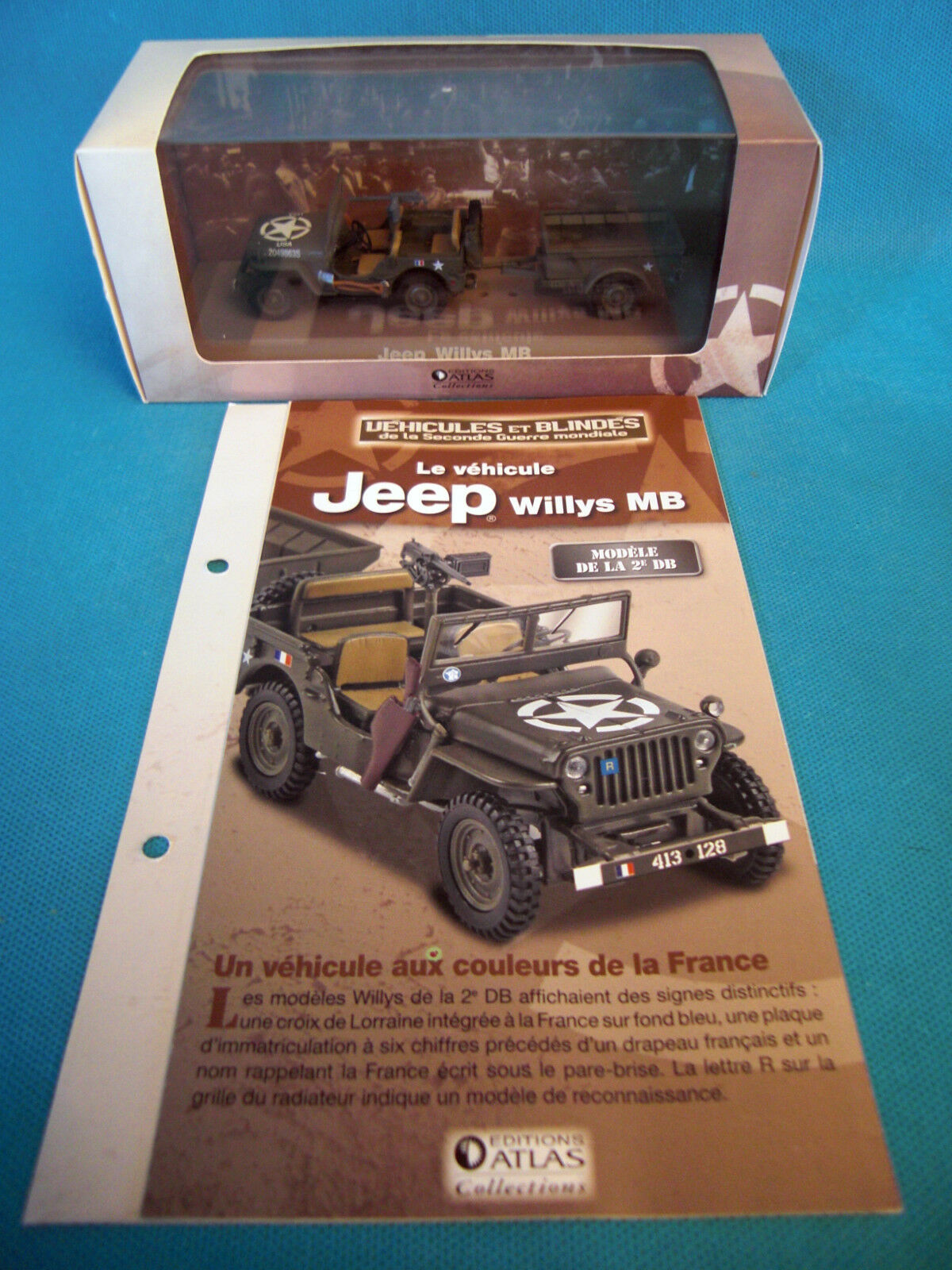 Vehicles and Tanks Willys MB of La 2e DB Edition Atlas 1 43