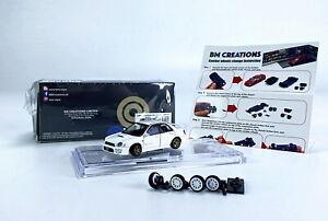 BM Creations 1/64 SCALA SUBARU 2001 IMPREZA WRX STI Bianco Diecast Modello Auto Giocattolo