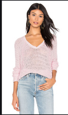 Free People Small New Thien/'s Hacci Sweater Dolman Sleeve Relaxed Knit Purple