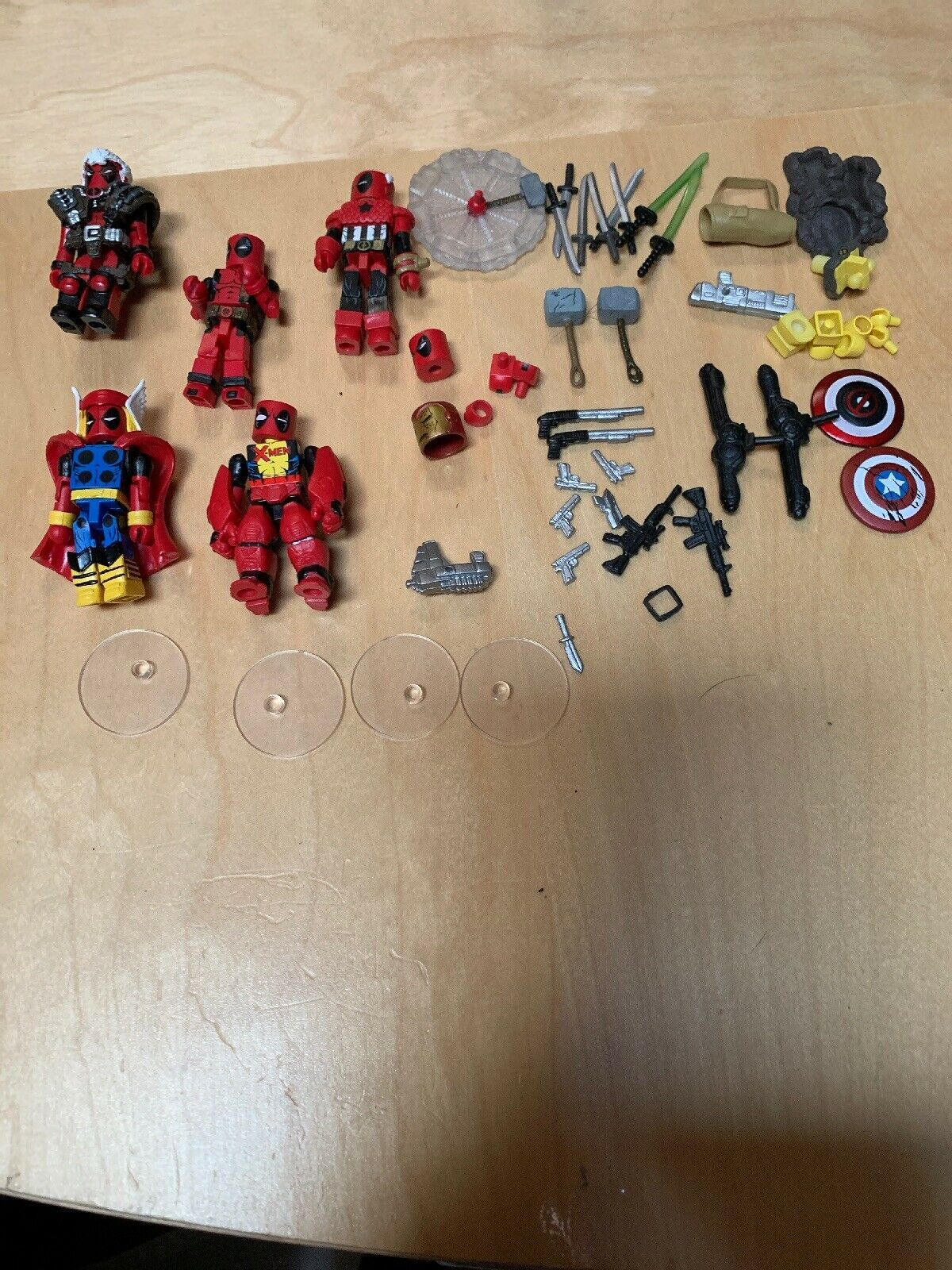 DEADPOOLS ASSEMBLE Minimates Lot Lot Lot Iron-Deadpool Cable Ameri-pool Diamond Select 272a47