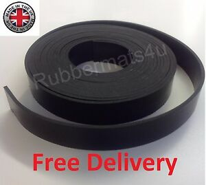Black-SOLID-NEOPRENE-RUBBER-Flexible-Strips-Various-Strip-sizes-available