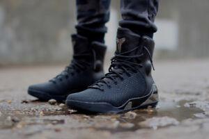 Nike Kobe 9 IX High EXT Elite size 9.5. Black Chrome Silver. Leather ... b675237180b1