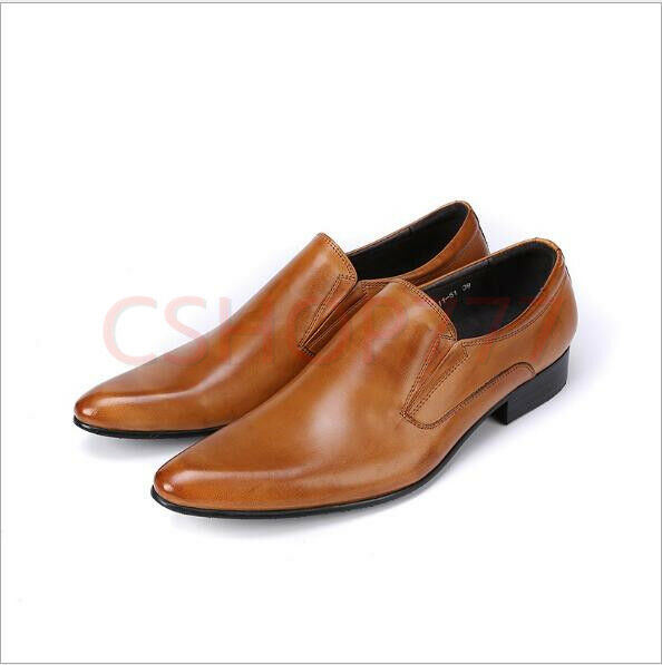 online economico Mens vogue Business Groom scarpe Dress Leather Leather Leather Formal Slip on hot Loafers new 18  moda