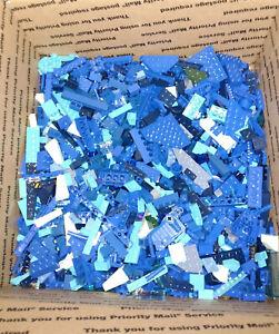 Bulk-LEGO-Lot-BLUE-Specialty-Pieces-Blocks-Bricks-Plates-Baseplates-8-lb-Pounds