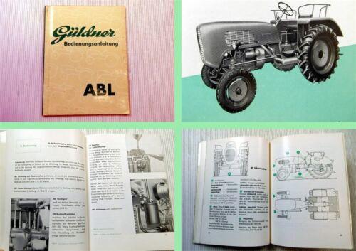 Güldner ABL Bedienungsanleitung Betriebsanweisung 1958