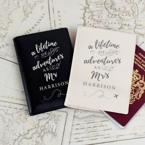 Personalised Lifetime of Adventures Passport Holders Set Mr and Mrs Wedding Gift