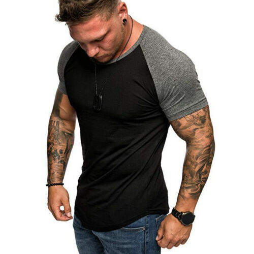 Men/'s Camo Shirt Fitness Athletic Sports Muscle T Shirt Slim Fit Gym Tee Tops